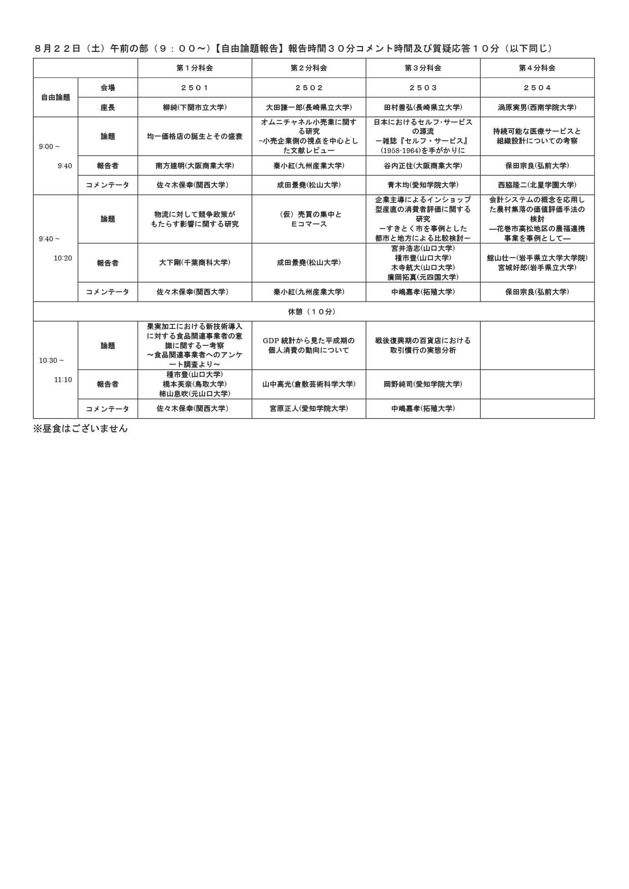日本消費経済学会第45回全国大会